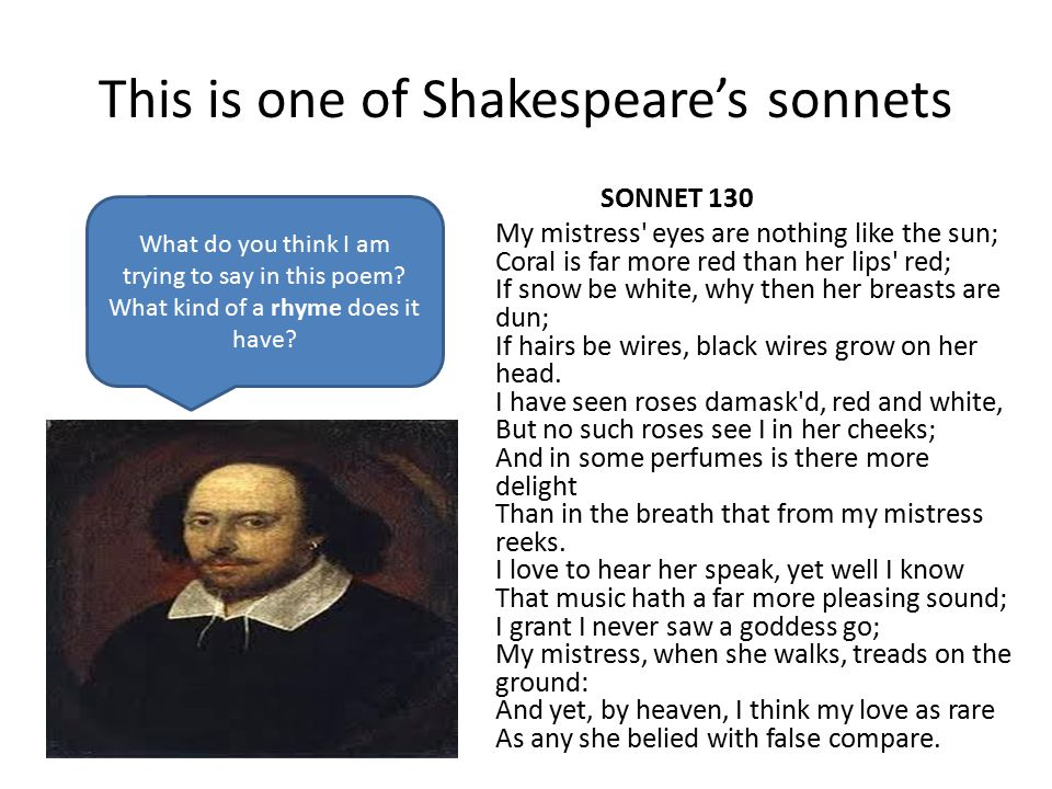 This is one of Shakespeare's sonnets