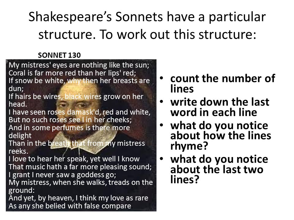 Shakespeare's Sonnets have a particular structure