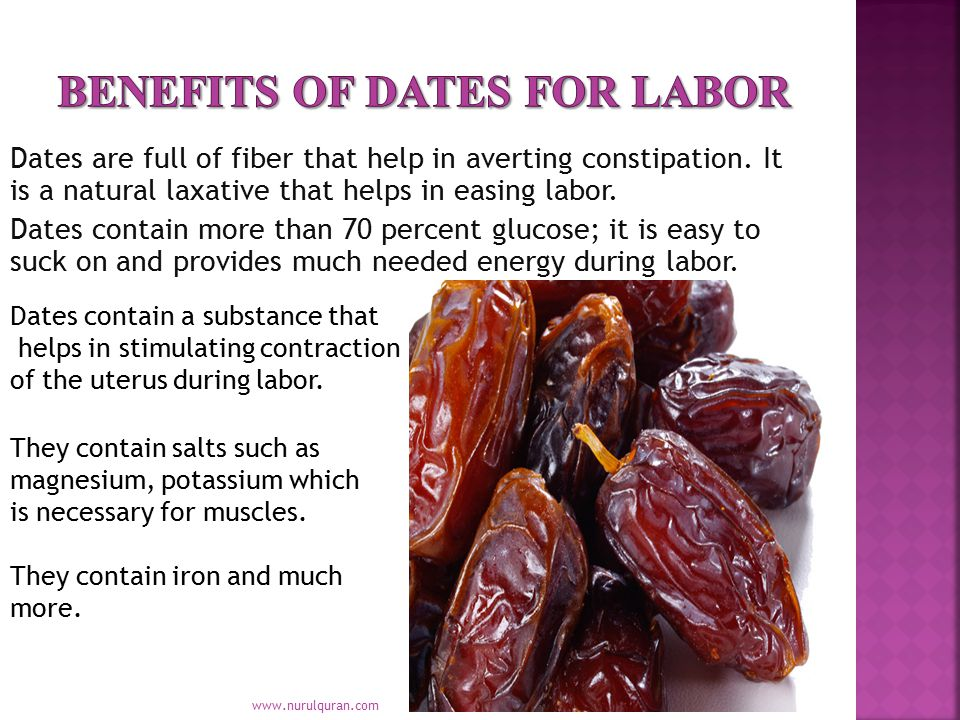 Benefits of dates for labor