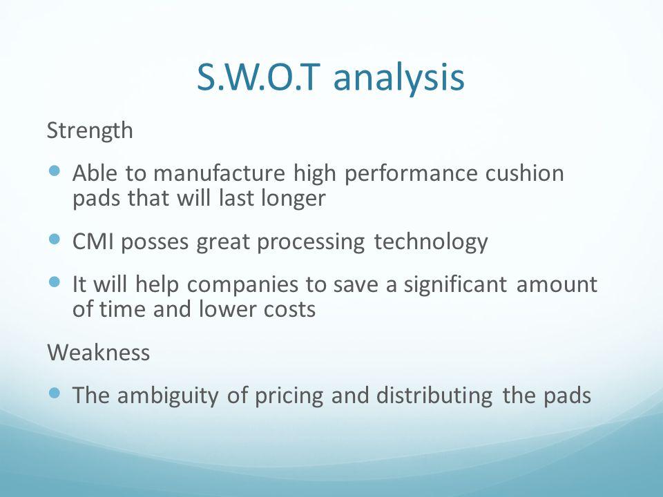 S.W.O.T analysis Strength