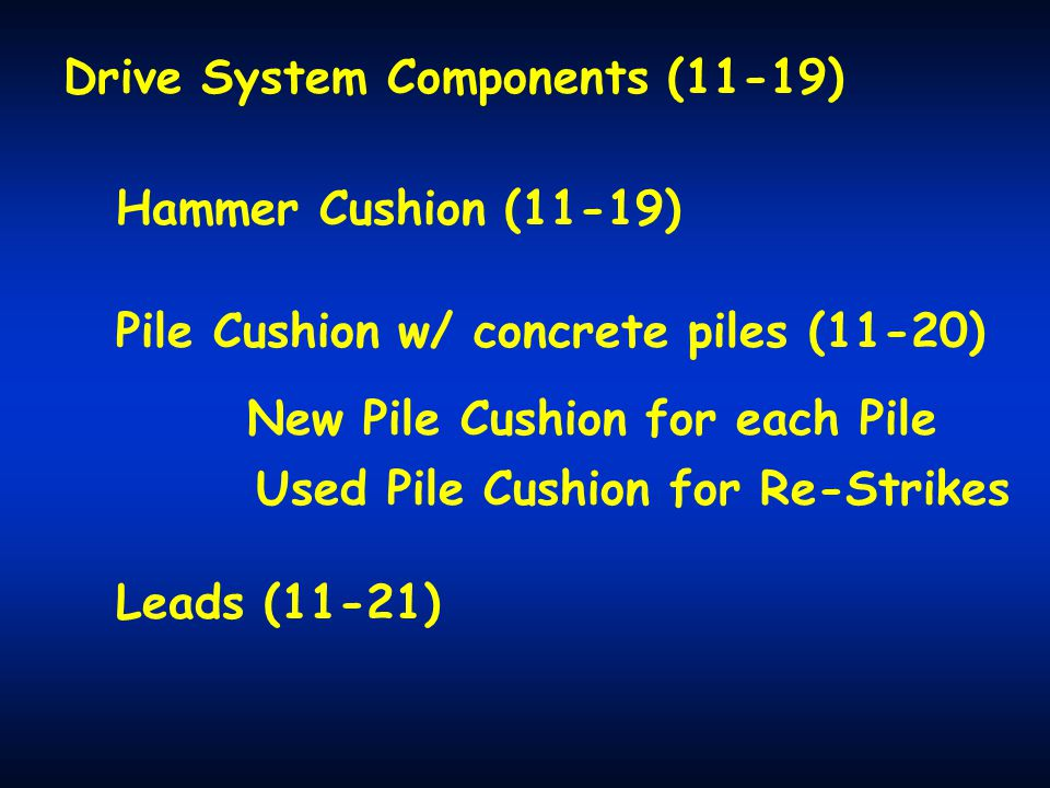 Drive System Components (11-19)