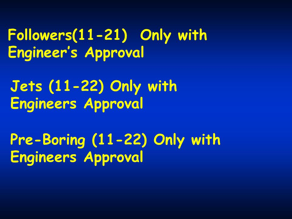 Followers(11-21) Only with Engineer's Approval