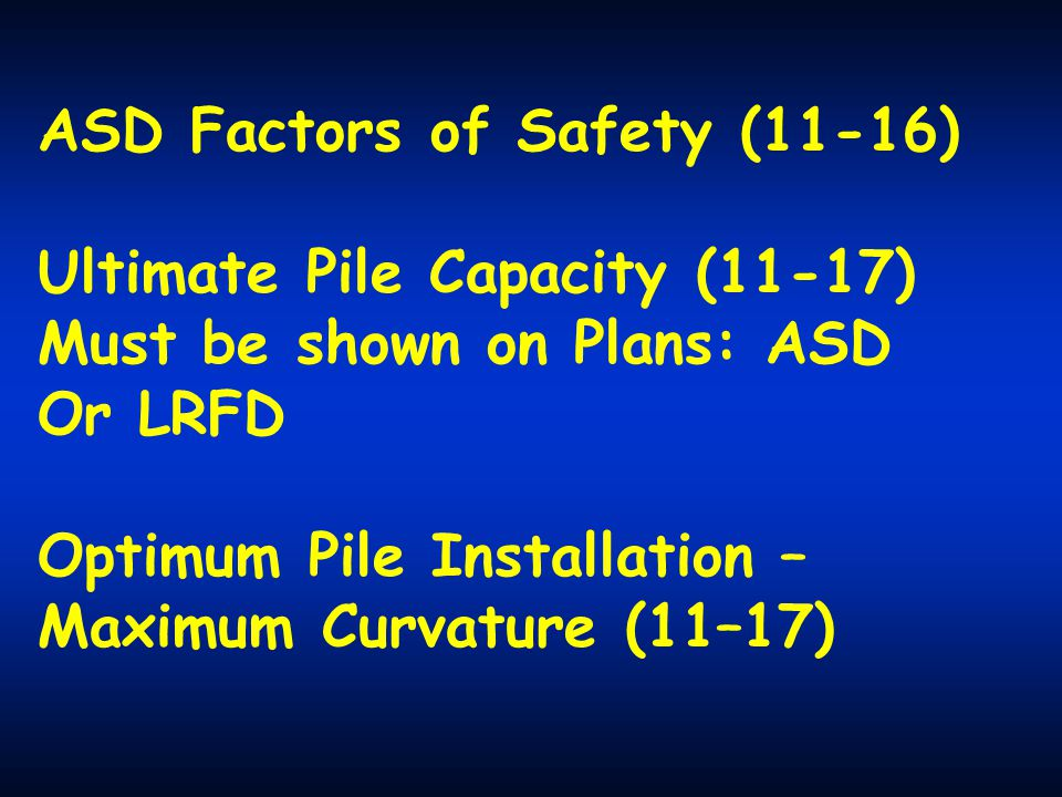 ASD Factors of Safety (11-16)