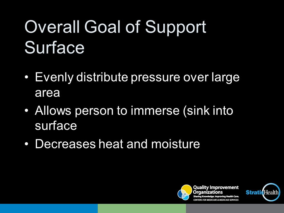 Overall Goal of Support Surface