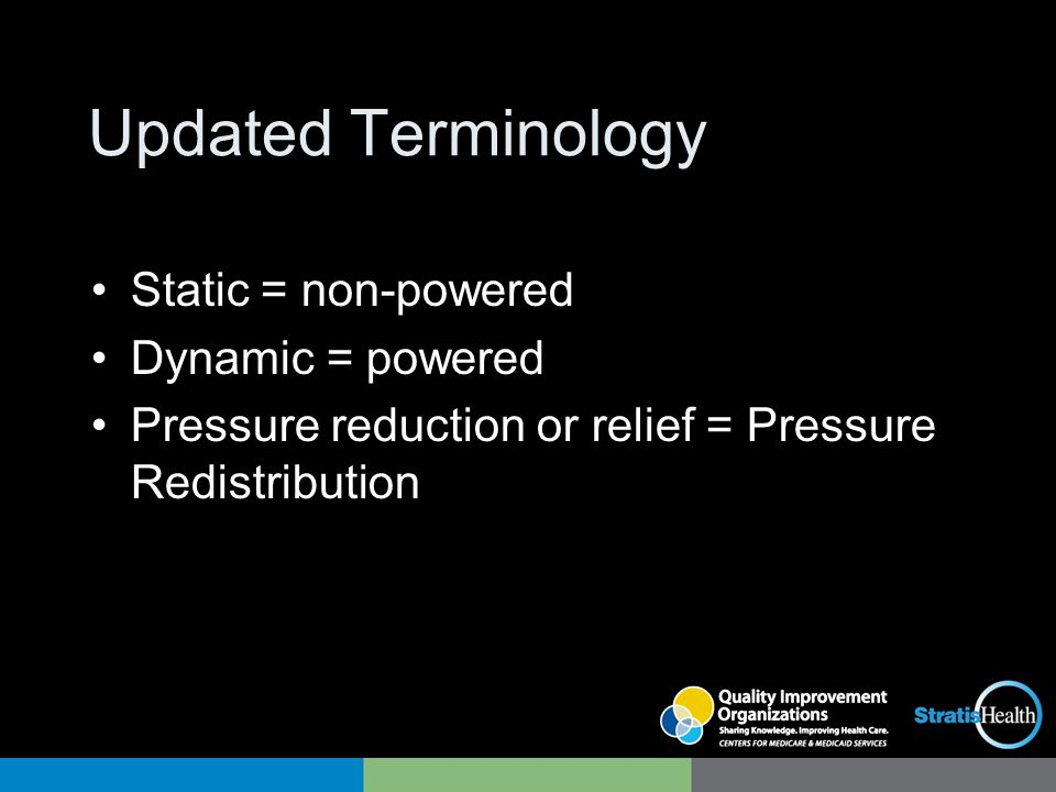 Updated Terminology Static = non-powered Dynamic = powered