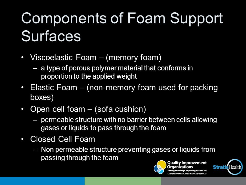 Components of Foam Support Surfaces