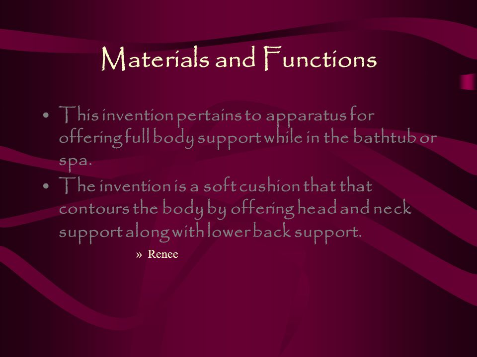Materials and Functions