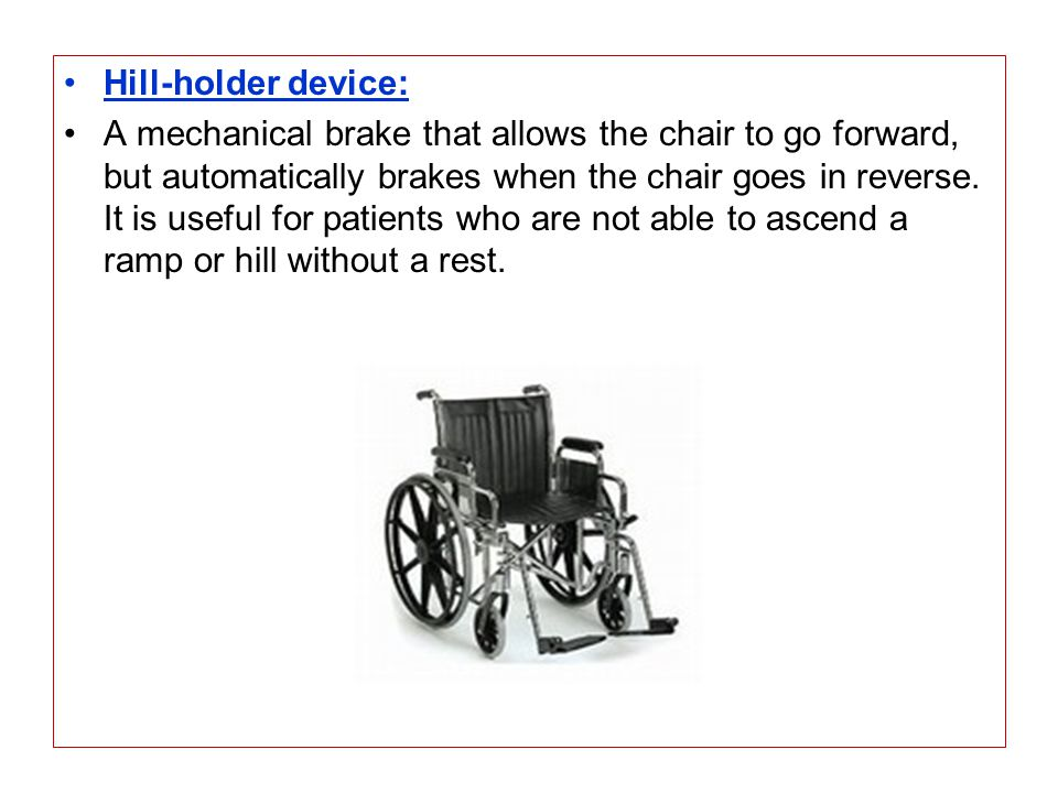 Hill-holder device: