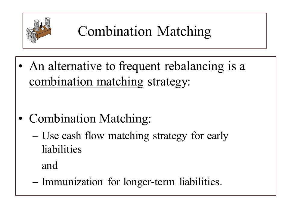 Combination Matching An alternative to frequent rebalancing is a combination matching strategy: Combination Matching: