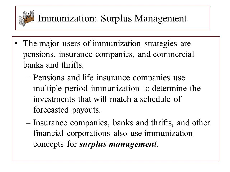 Immunization: Surplus Management