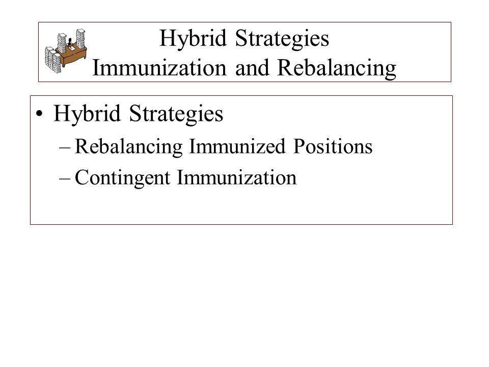 Hybrid Strategies Immunization and Rebalancing