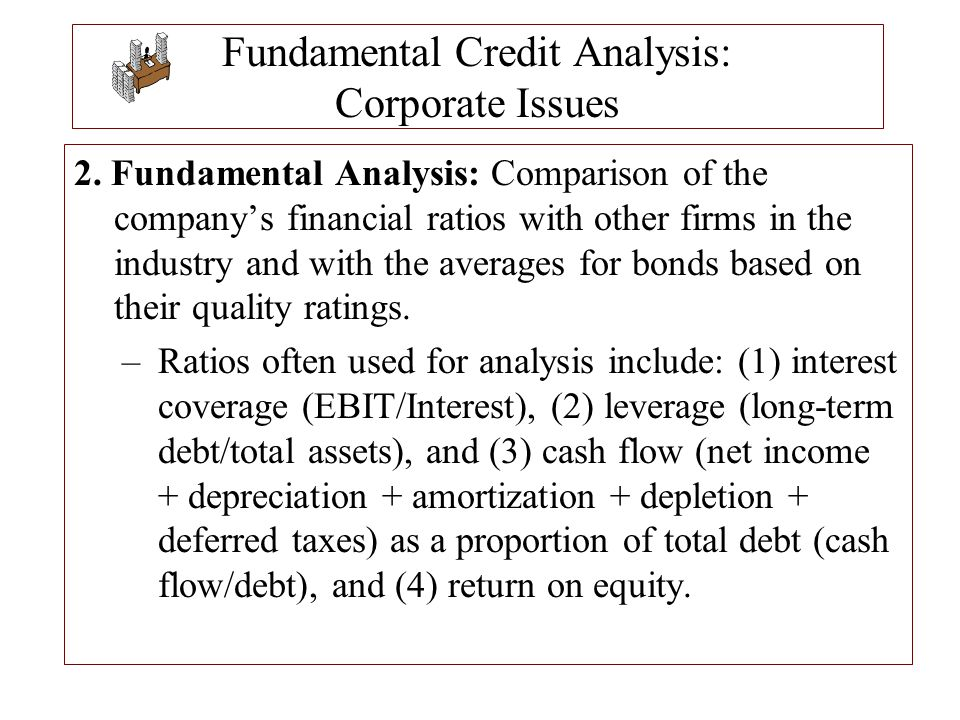 Fundamental Credit Analysis: Corporate Issues