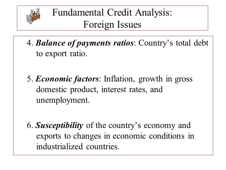 Fundamental Credit Analysis: Foreign Issues