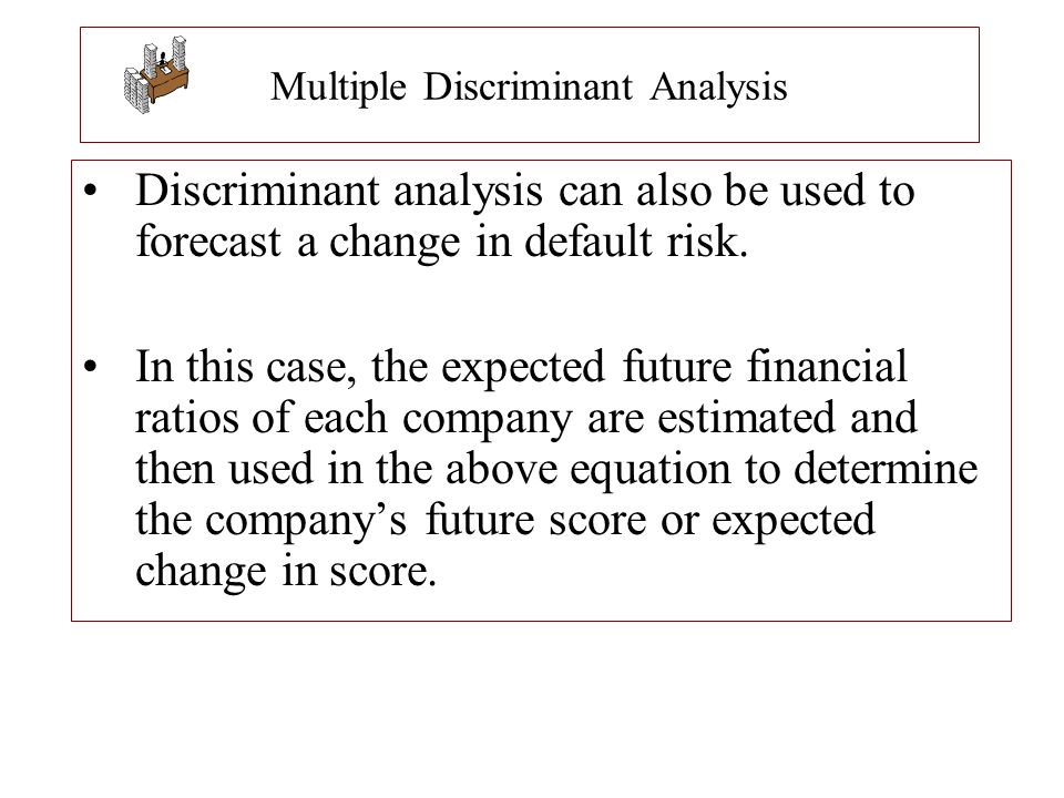 Multiple Discriminant Analysis