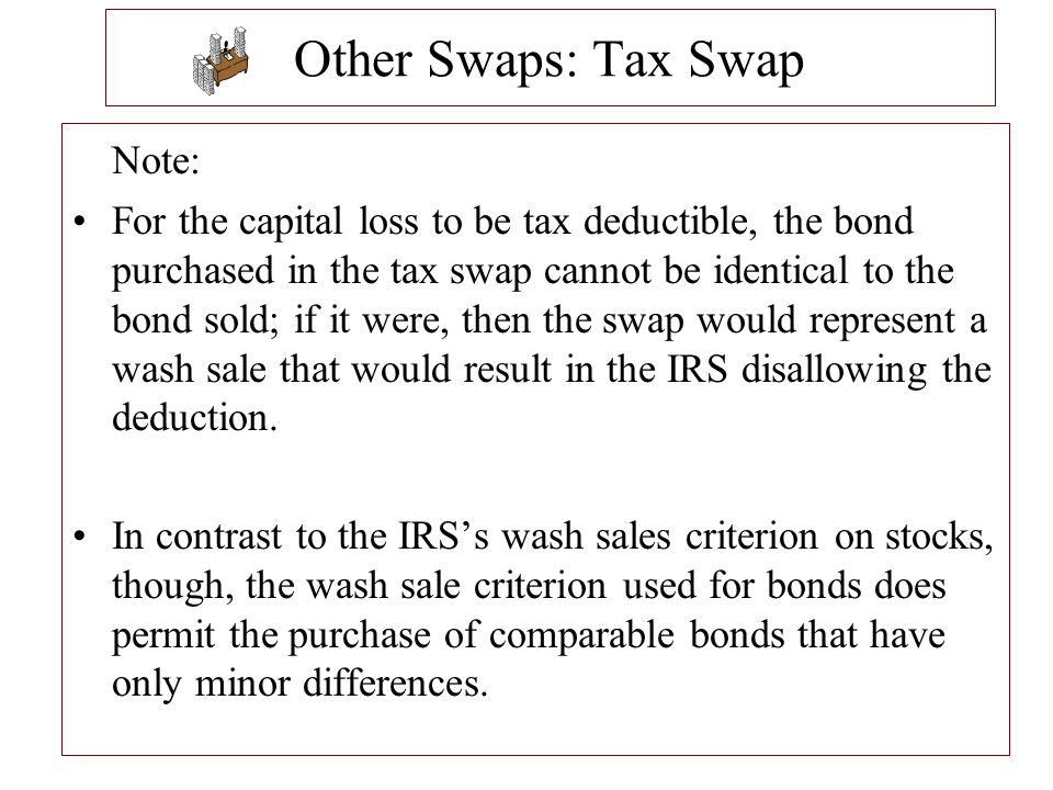 Other Swaps: Tax Swap Note: