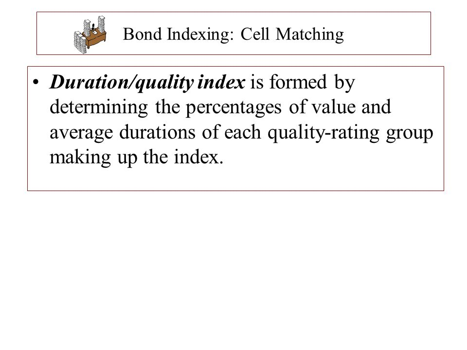Bond Indexing: Cell Matching