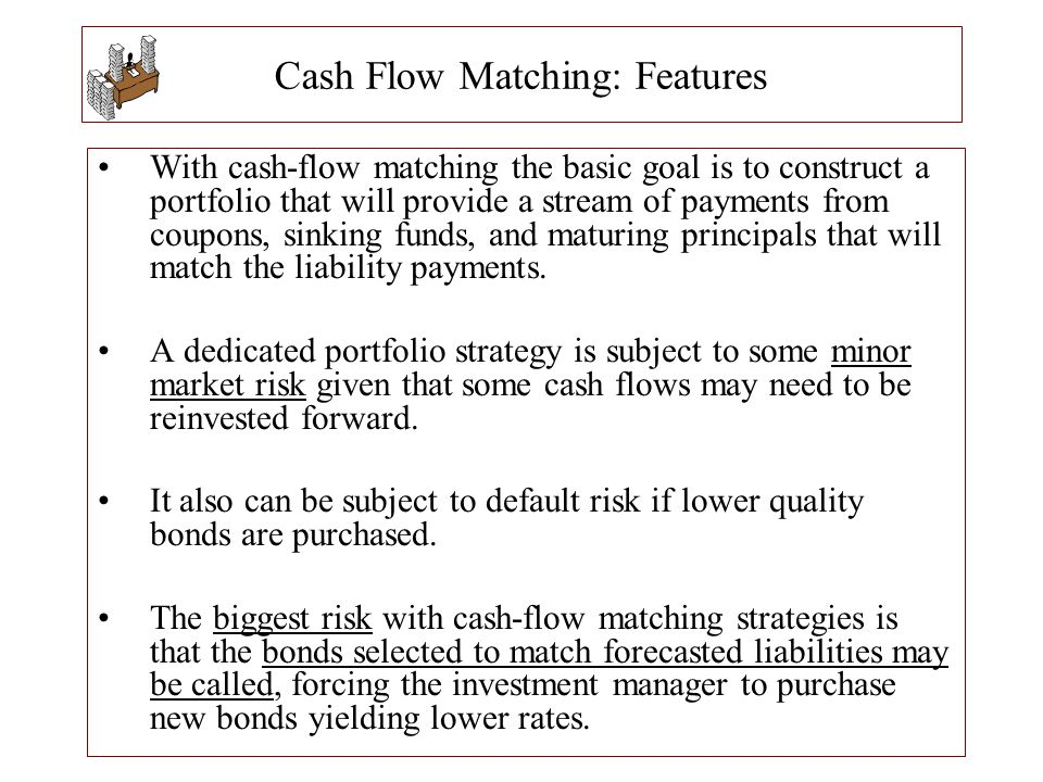 Cash Flow Matching: Features