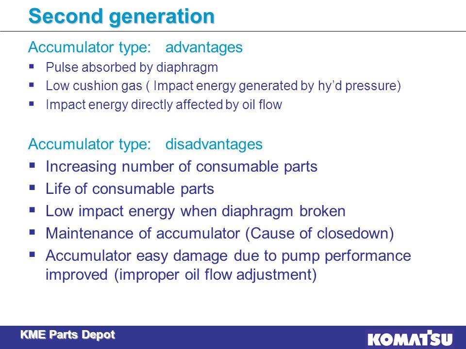 Second generation Accumulator type: advantages