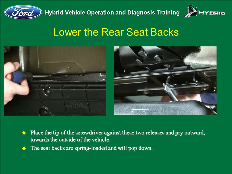 Lower the Rear Seat Backs