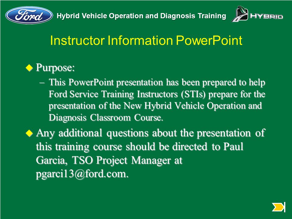 Instructor Information PowerPoint