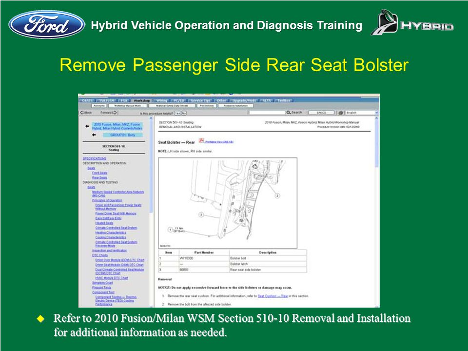 Remove Passenger Side Rear Seat Bolster
