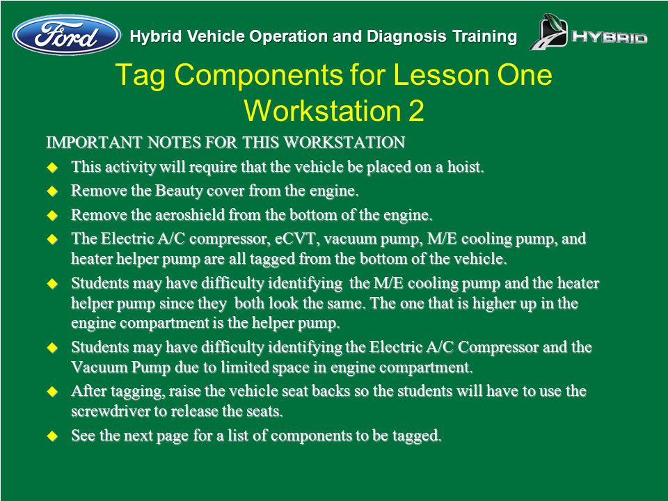 Tag Components for Lesson One Workstation 2