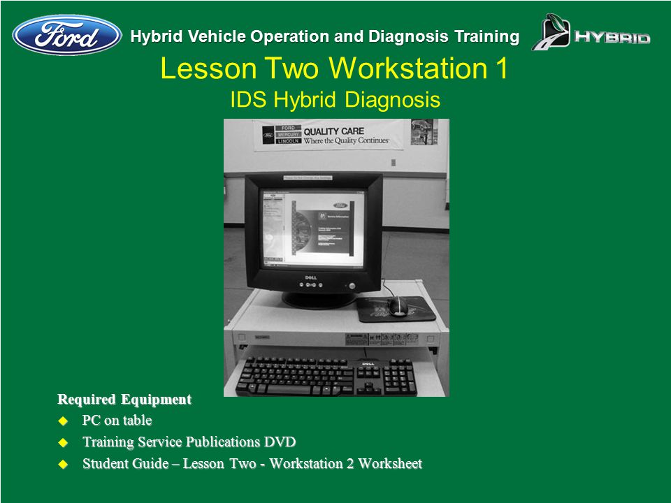 Lesson Two Workstation 1 IDS Hybrid Diagnosis