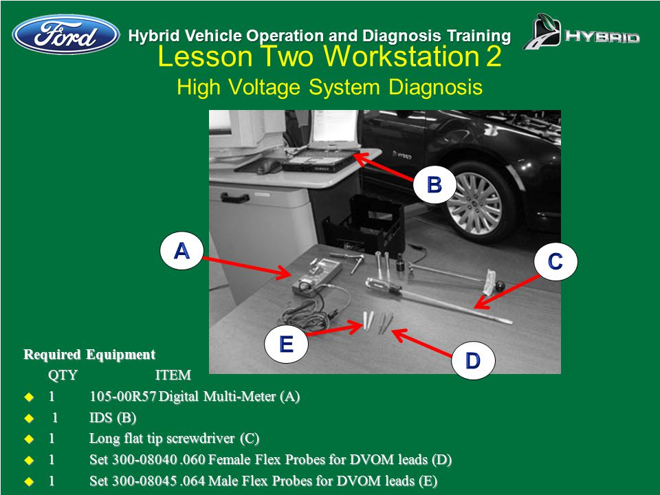 Lesson Two Workstation 2 High Voltage System Diagnosis