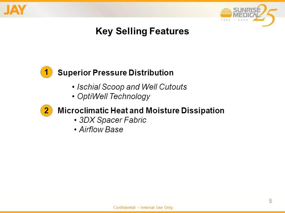 Key Selling Features Superior Pressure Distribution