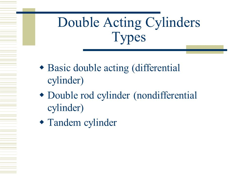 Double Acting Cylinders Types