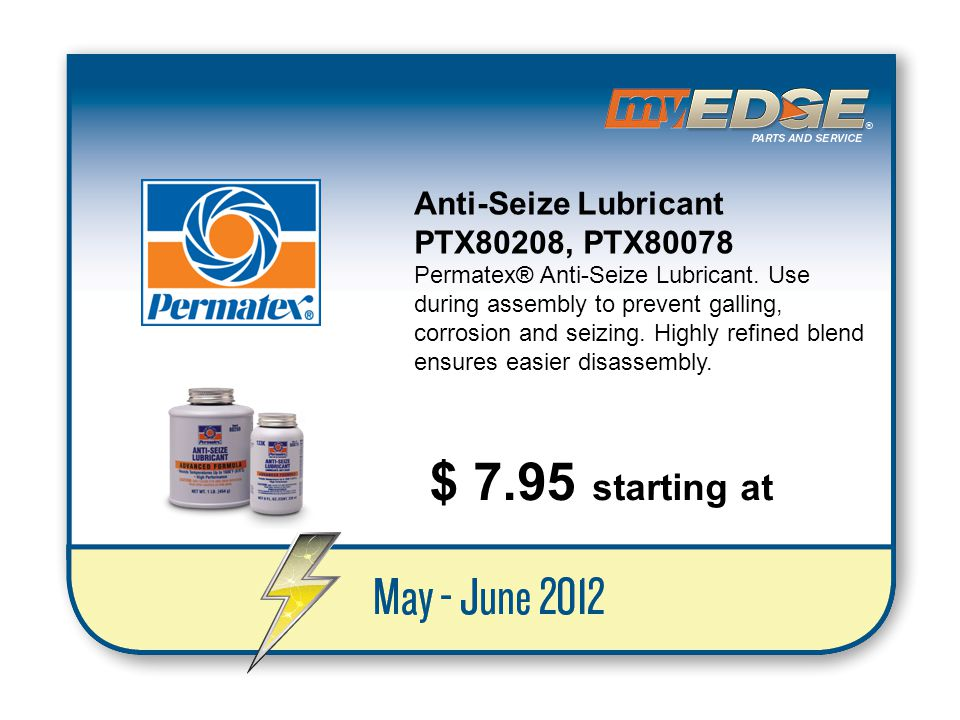 $ 7.95 starting at Anti-Seize Lubricant PTX80208, PTX80078