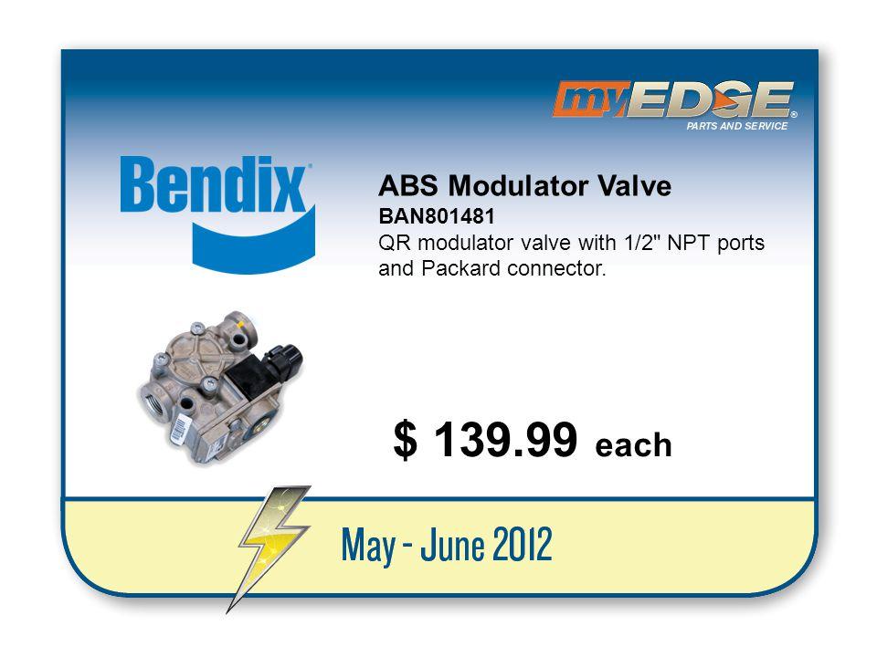 $ 139.99 each ABS Modulator Valve BAN801481