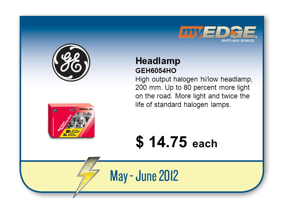 Headlamp GEH6054HO.