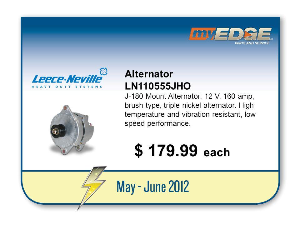 $ 179.99 each Alternator LN110555JHO