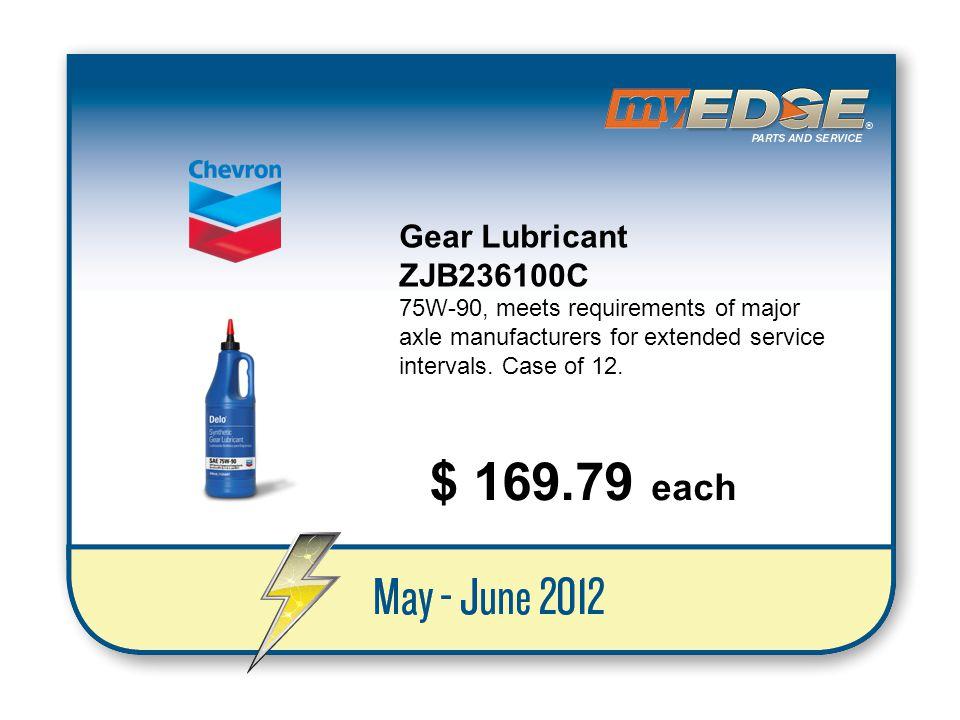$ 169.79 each Gear Lubricant ZJB236100C
