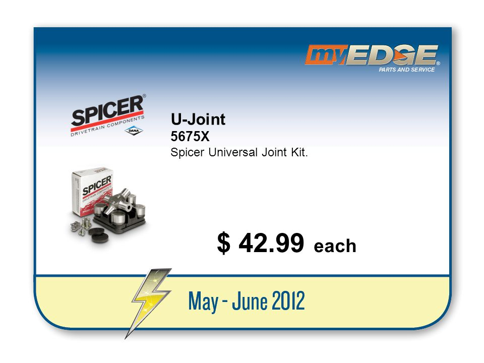 U-Joint 5675X Spicer Universal Joint Kit. $ 42.99 each