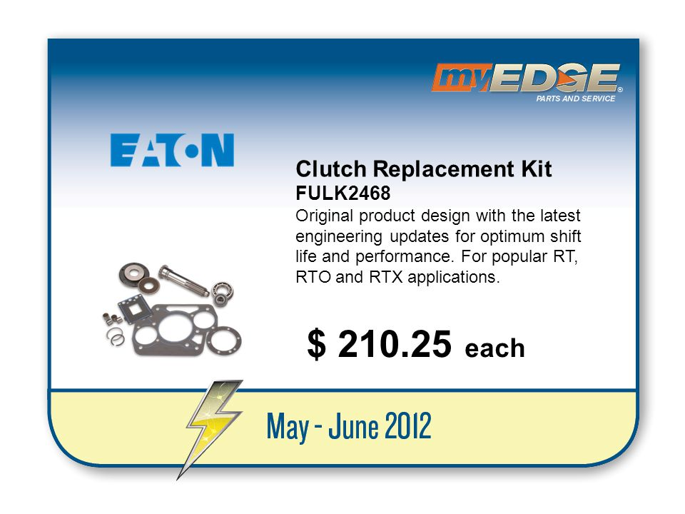 $ 210.25 each Clutch Replacement Kit FULK2468