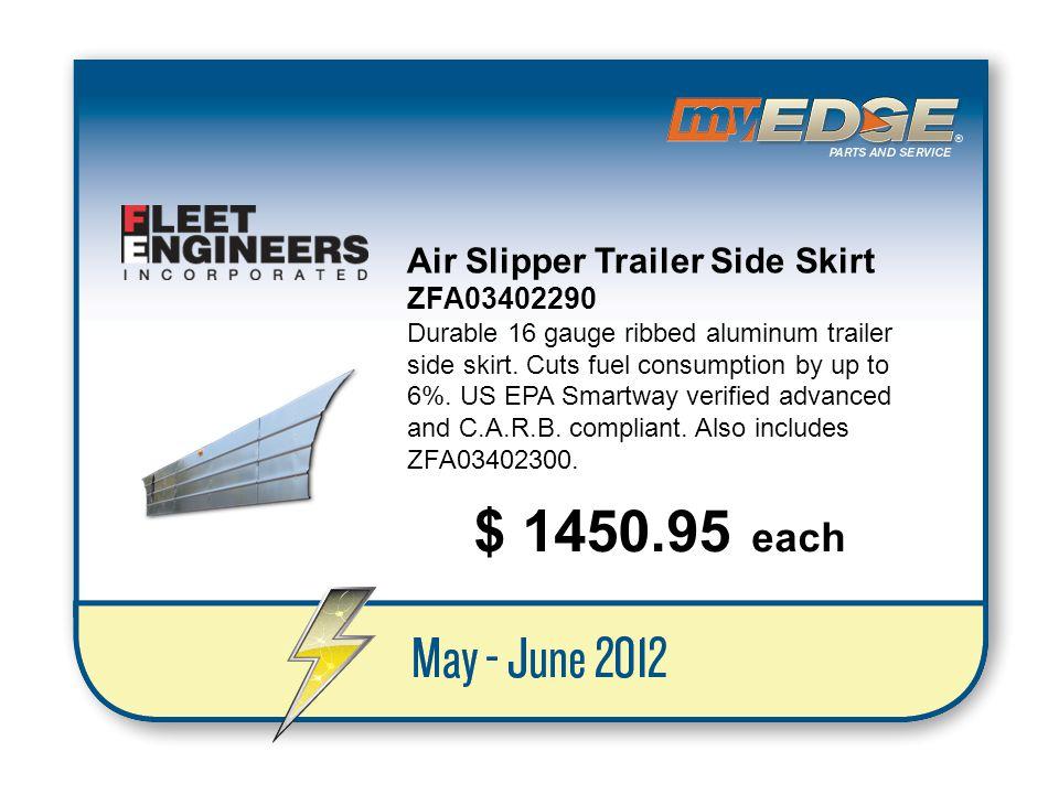 $ 1450.95 each Air Slipper Trailer Side Skirt ZFA03402290
