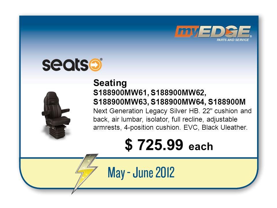 Seating S188900MW61, S188900MW62, S188900MW63, S188900MW64, S188900M.
