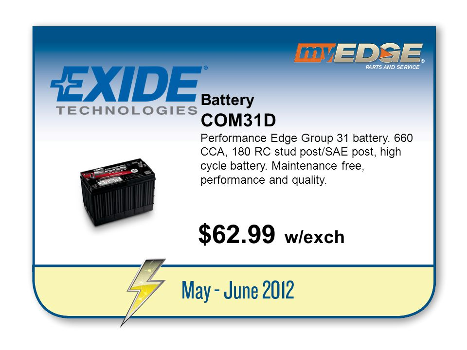 Battery COM31D.