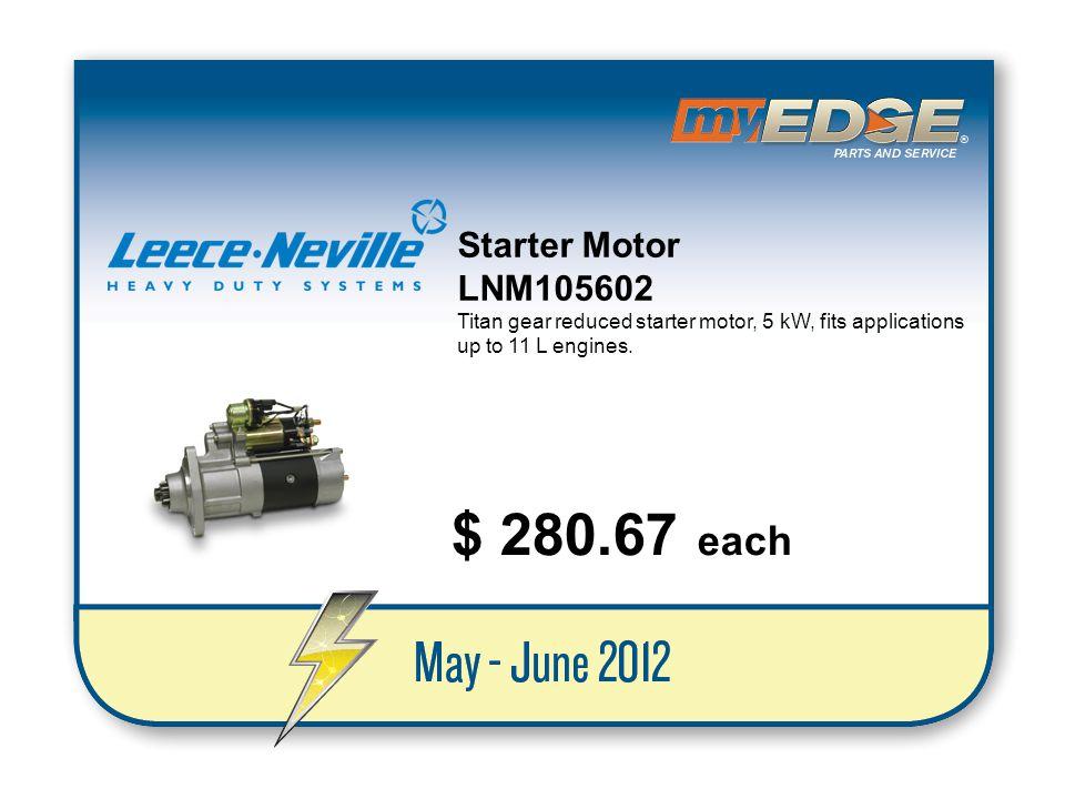 $ 280.67 each Starter Motor LNM105602