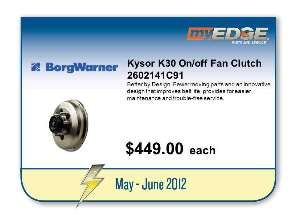 $449.00 each Kysor K30 On/off Fan Clutch 2602141C91