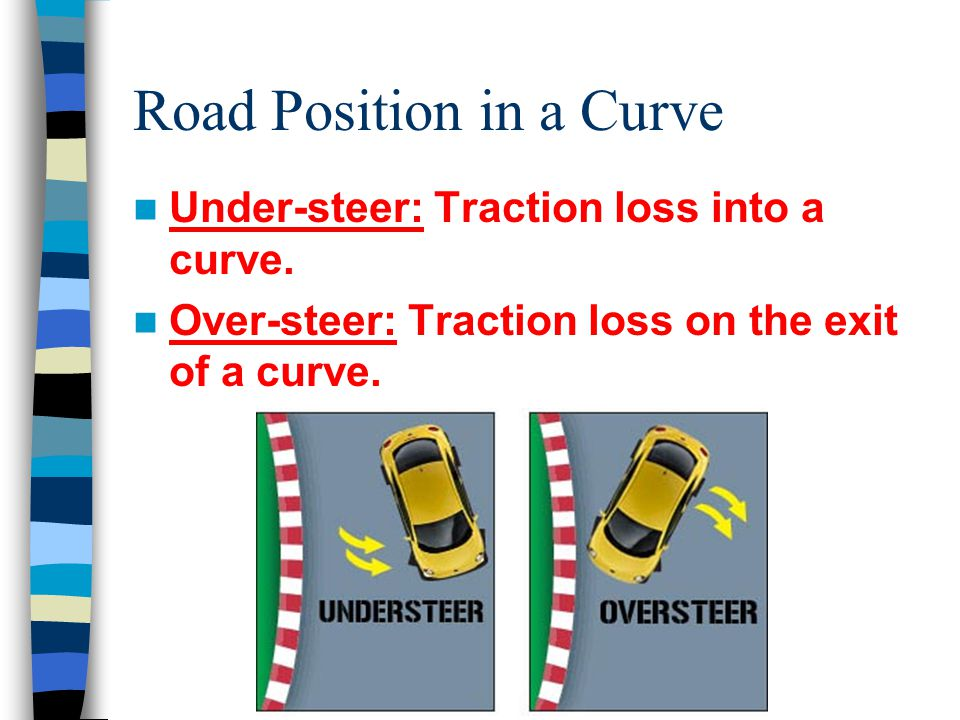 Road Position in a Curve