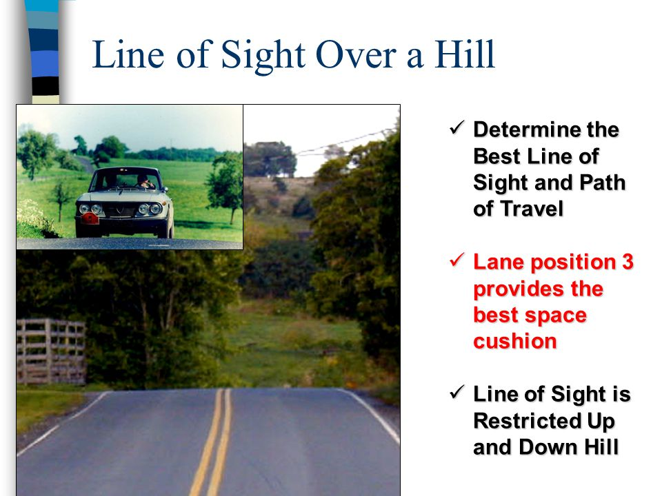 Line of Sight Over a Hill