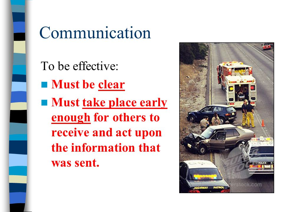 Communication To be effective: Must be clear