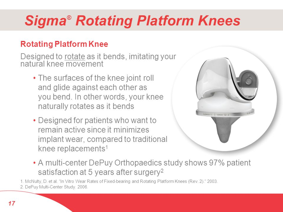 Sigma® Rotating Platform Knees