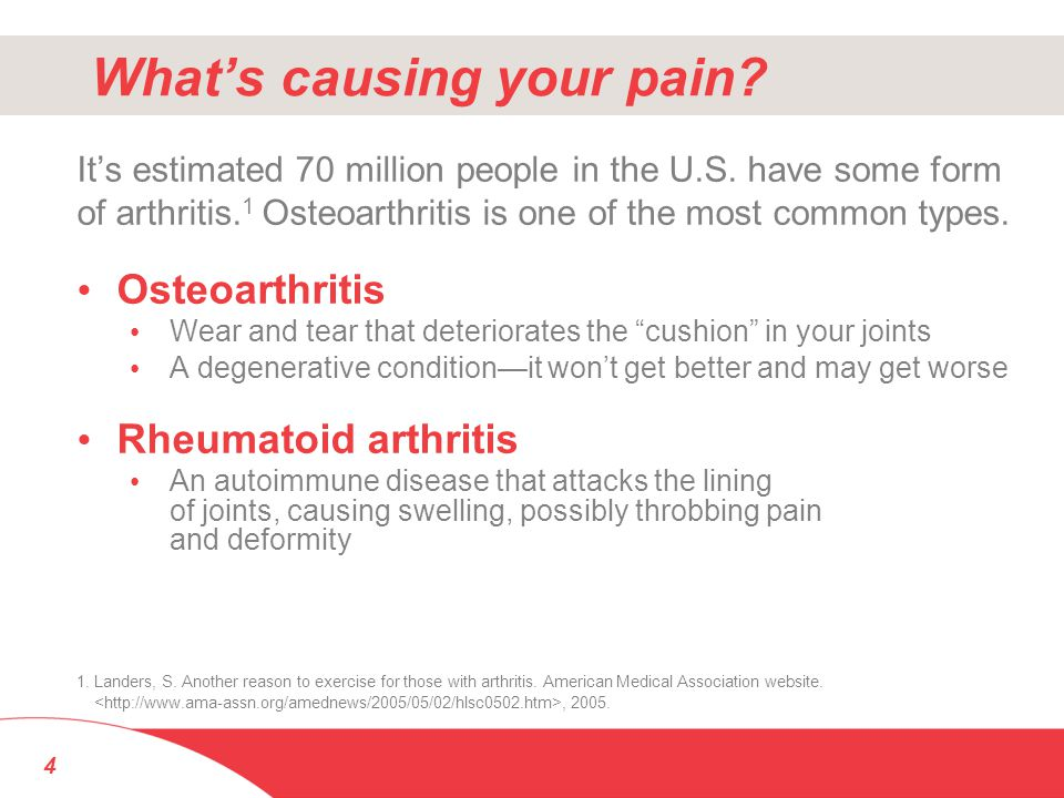What's causing your pain