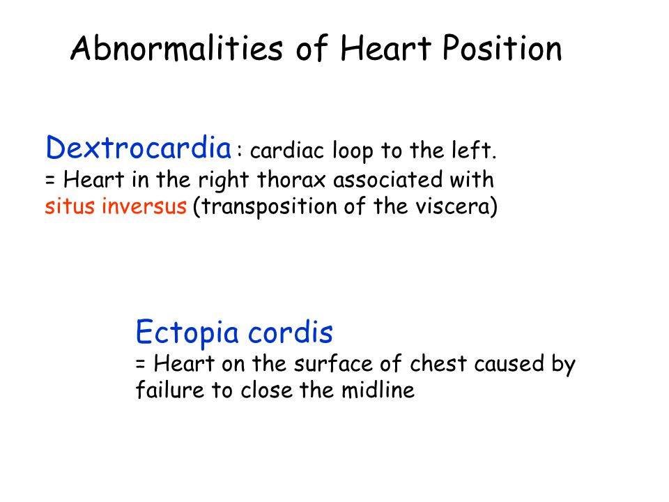 Abnormalities of Heart Position