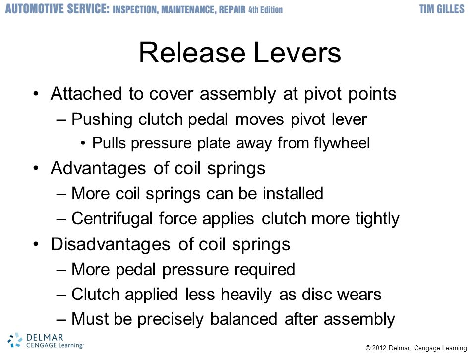 Release Levers Attached to cover assembly at pivot points