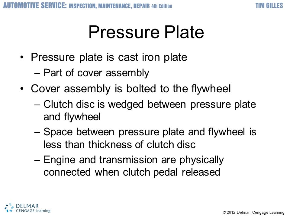 Pressure Plate Pressure plate is cast iron plate